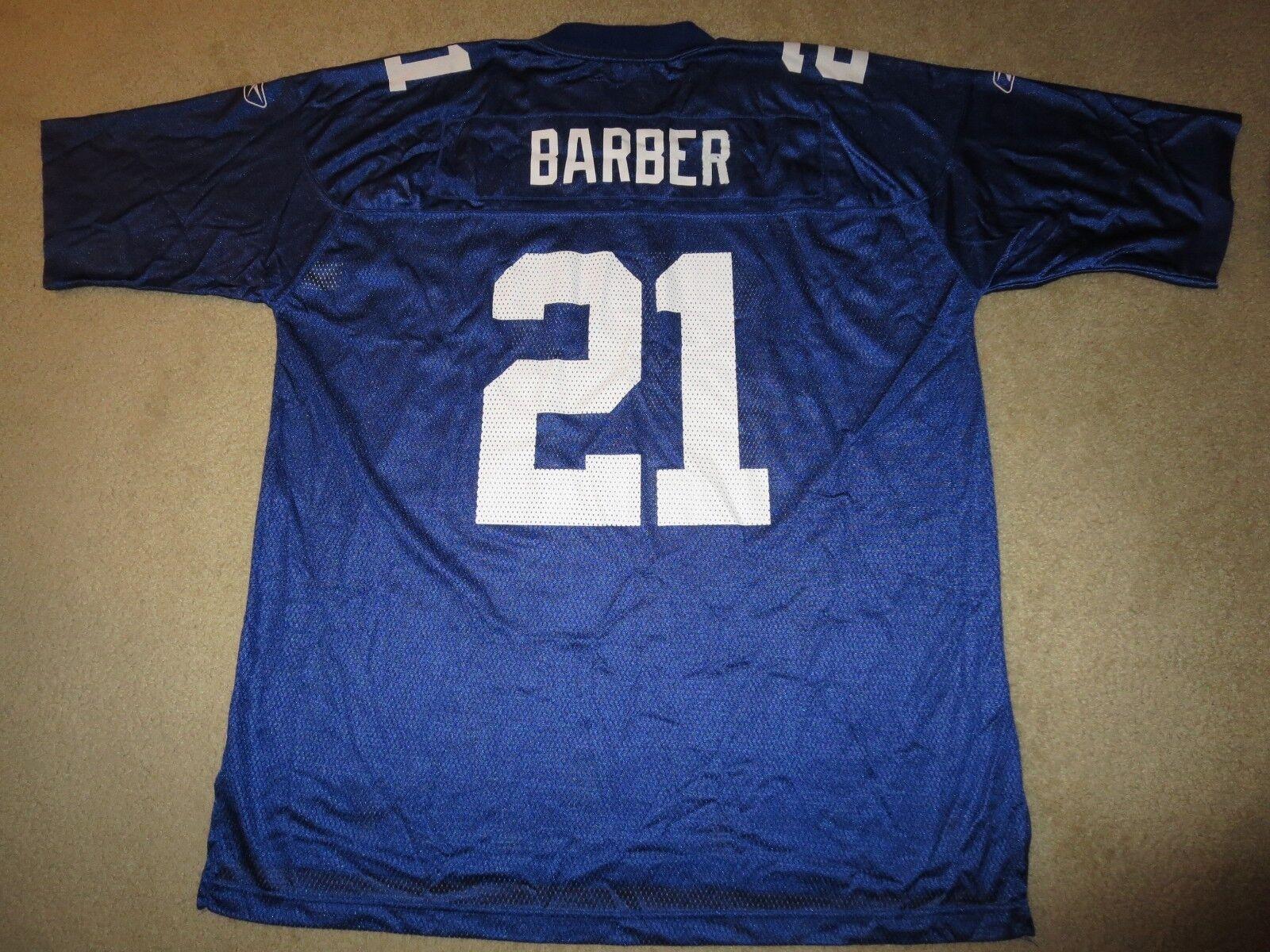 Tiki Friseur  21 21 21 New York Giants NFL Reebok Trikot 2XL 2x Rookie Herren ae2e27