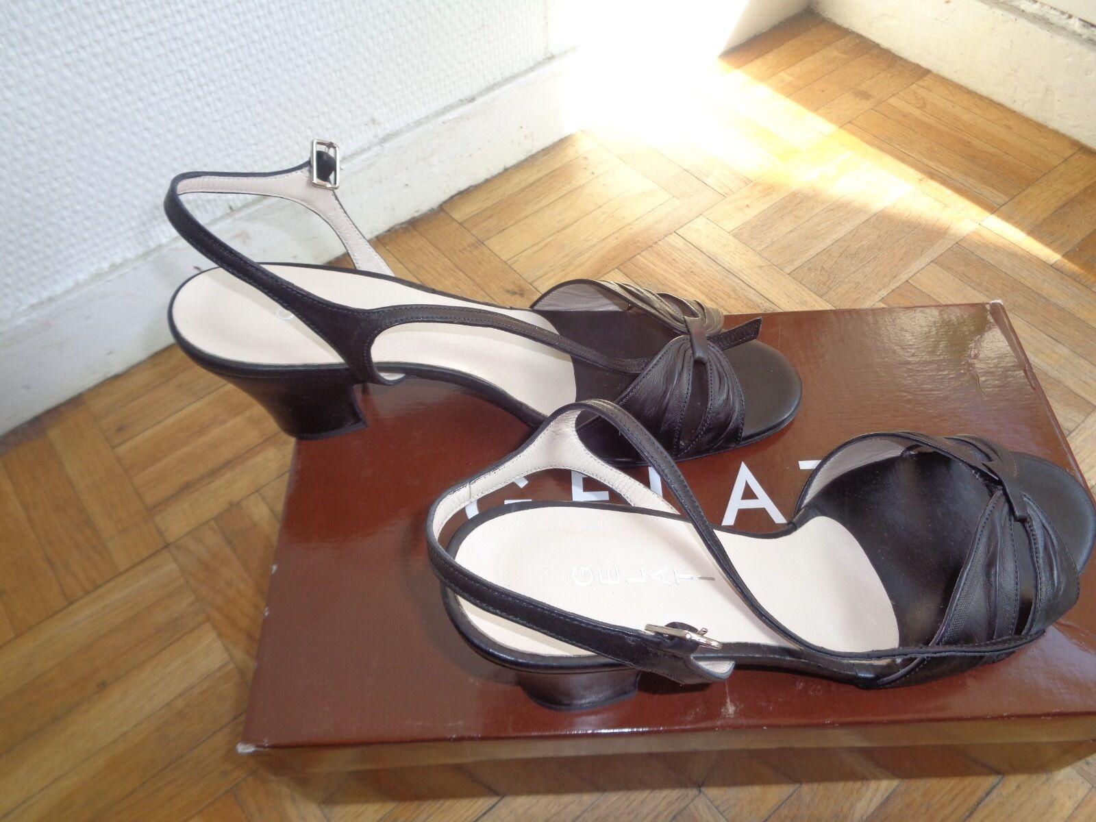 Chaussures sandales femme noires Gelati neuves T37 1 2