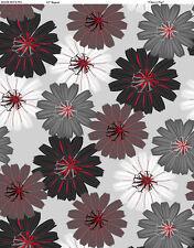 CHERRY POP~WILMINGTON FABRICS~BY The YD~BLACK GRAY & RED DAHLIAS ON GREY~90374