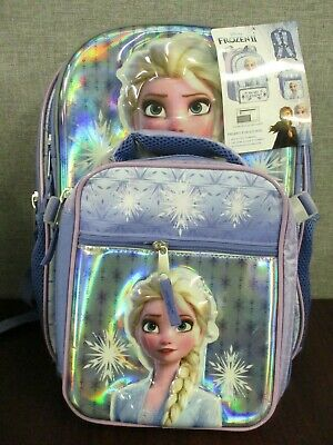 """Frozen Backpack with Detachable Lunch Bag 16/"""" School Backpack  Book Bag"""