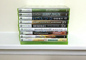 Lot-Of-11-Xbox-360-Games-Halo-Call-Of-Duty-Battlefield-Tom-Clancy-s-Forza