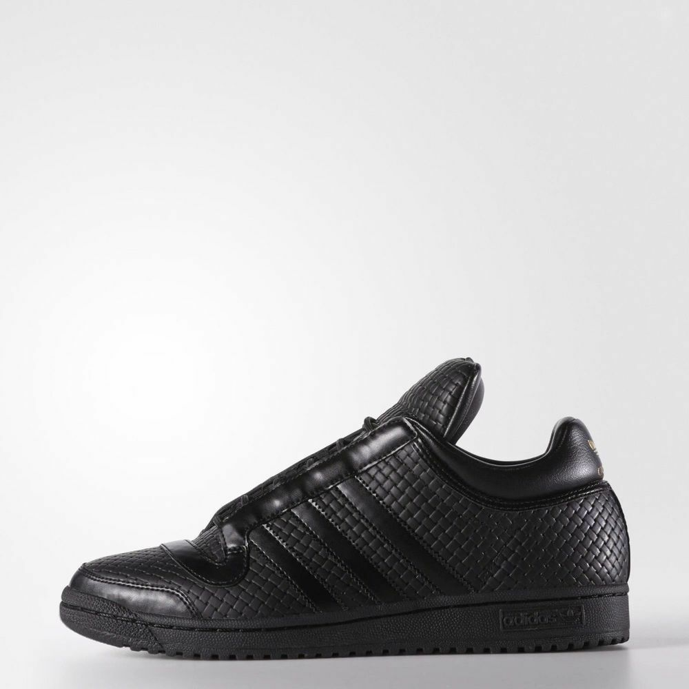 35db9598c06 NEW RARE Adidas Originals Top Ten Mid PC Men's 10 shoes Black Leather F37276