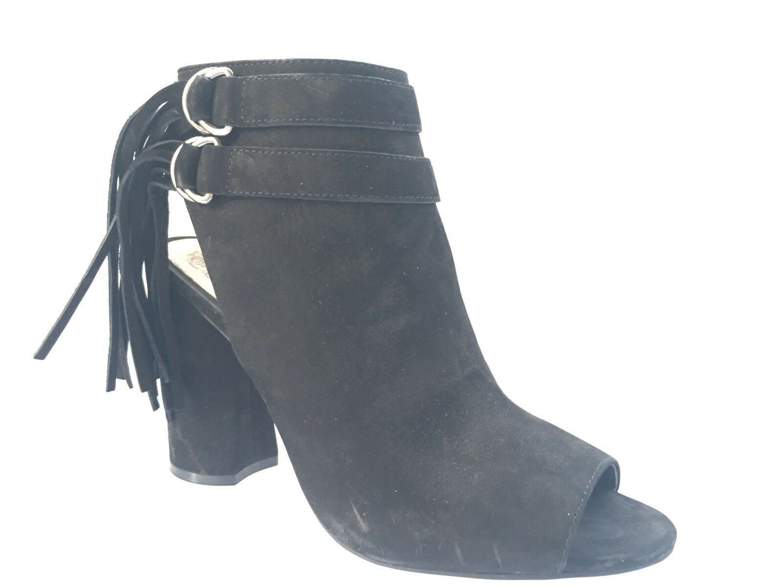 Vince Camuto Catinca Women Black Peep Toe Ankle Boot Stylish Shoes Size 7.5