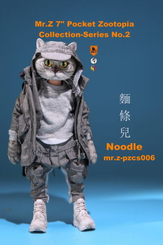 """Mr.Z  7/"""" Resin Head Pocket Zootopia Noodle Figure Animal Collection Toys 17.2cm"""
