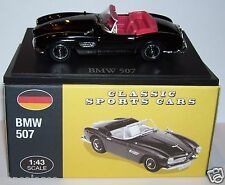 NOREV BY EDTITIONS ATLAS CLASSIC SPORTS CARS BMW 507 ROADSTER NOIRE 1/43 IN BOX