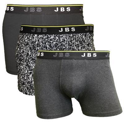 3er Set Jbs Cotton Mix Trend Sport Tempo Libero Boxer Doposcuola Nero Grigio S M L Xl Xxl- Belle Arti
