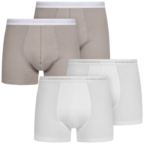 HEAD Basic Herren 2er-Pack Unterwäsche Unterhose Boxershorts Short grau weiß neu