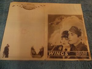 WINGS-1928-CLARA-BOW-ORIGINAL-4-PAGE-JUMBO-HERALD-10-034-BY15-034-VERY-RARE
