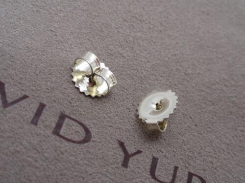 Pair of David Yurman Sterling Silver Medium Earring Back