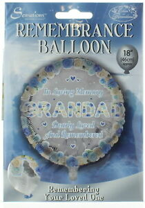 "Grandad Memorial 18/"" Round Foil Balloon"