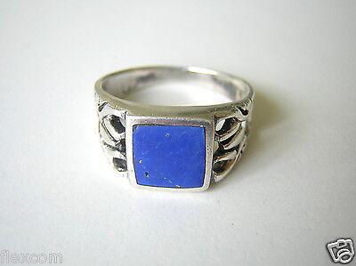 Rational 925 Silber Ring Mit Lapis Lazuli Stein 3,8 G /gr.:17,8 Mm Lapis Silber Schmuck Modern Design Precious Metal Without Stones Loose Gemstones