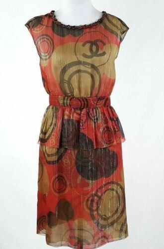 Chanel Iconic Rare Logo Peplum Dress