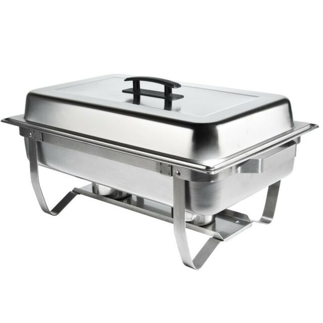 Folding Stainless Chafing Dish Warming Tray Food Warmer Catering Buffet Chafer