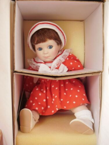 Moments Treasured porcelain Betsy Doll NIB certificate