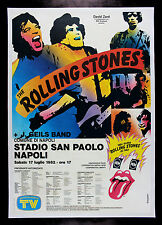 ROLLING STONES * CineMasterpieces ITALIAN ORIGINAL TOUR MUSIC ROCK POSTER 1982