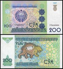 Uzbekistan 200 Sum, 1997, P-80, UNC