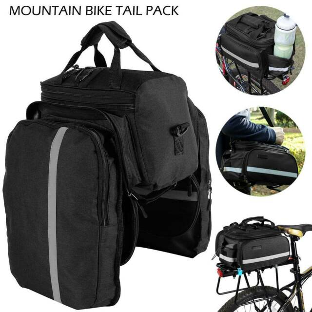 Panniers Bike Seat Rear Pouch Luggage Carrier Shoulder Bags Cycling Saddle Bag