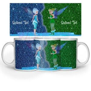 Tinker-Bell-Imprime-Paillete-Effet-Mug-facultatif-Texte-Nom-de-Cafe-The-Cadeau-11-Oz-environ-311-84