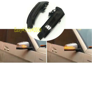 2x Side Mirror Sequential Turn Signal Light For Mercedes Benz A B C E S CLA GLA