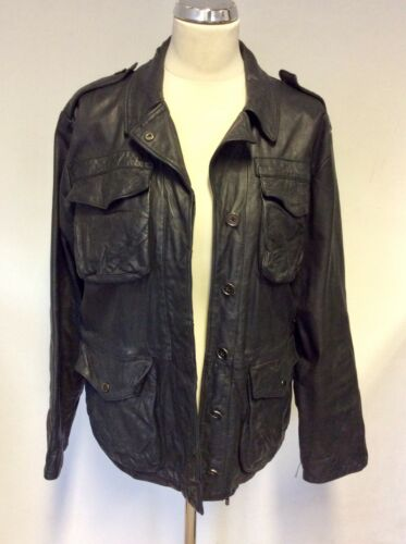 Jacket Black Button Leather 10 Fasten Mulberry Size xFaqB0O
