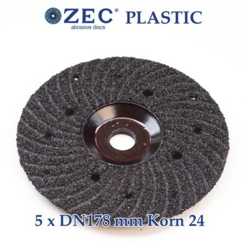 ZEC PLASTIC 178mm UNIVERSAL-SCHLEIFSCHEIBE SCHRUPPSCHEIBE BETON BESCHICHTUNGEN