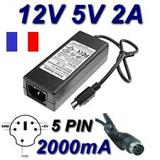 Alimentation 12V 5V 2A 5 Pin Remplacement Asian Power Devices APD DA-30C01