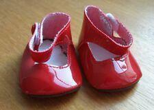 Chaussures vernies rouge pour poupée MISS COROLLE 42 CM BEBE poupon 36 42CM