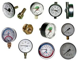 Manometer-Thermomanometer-Thermometer-Axial-Hinten-Radial-Unten-TOP-PREIS