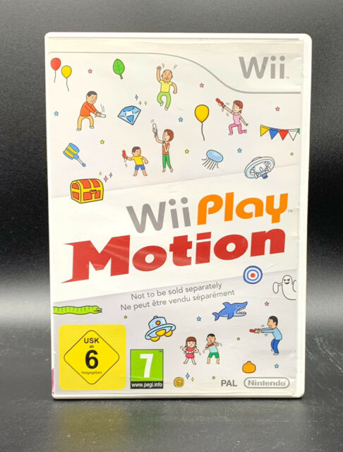 """NINTENDO WII SPIEL"""" WII PLAY MOTION """" Nur Software """" DEUTSCH/OVP"""