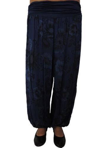 Damen Haremshose Größe 44 46 48 50 52 54 Übergröße Pumphose Sommerhose Blume 115
