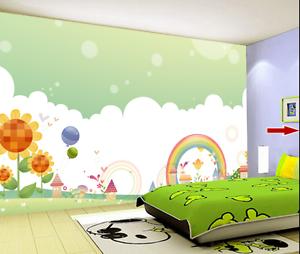 3D Rainbow Flowers Cartoon 7120 Wall Paper Wall Print Decal Wall AJ WALLPAPER CA