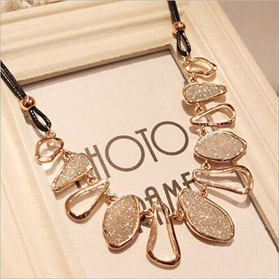 Women Fashion Chain Choker Bib Statement Charm Collar Pendant Necklace Jewelry