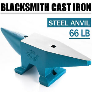 66LB-Iron-Anvil-Extremely-Rugged-Cast-Blacksmith-Silversmith-Tools-Round-Horn