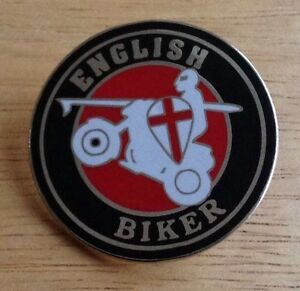 English Biker Enamel Pin Badge Of Outlaw Motorcycle Cafe Racer Rocker pirate