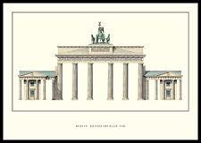 Langhans Berlin Brandenburger Tor Poster Kunstdruck im Alu Rahmen 59,4x84,1cm