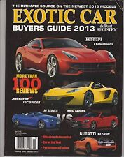 DUPONT REGISTRY EXOTIC CAR Magazine BUYER GUIDE 2013, MORE THAN 100 REVIEWS.
