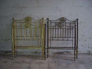 Antica Testiera tavarca spalliera letto matrimoniale ottone epoca ...