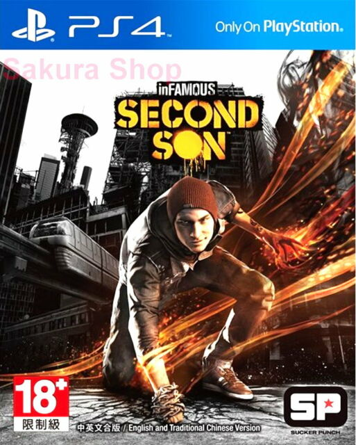 New Sony PS4 Games Infamous Second Son HK Version Chinese/English Subs