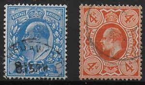 SG283-amp-286-2-amp-1-2d-Brt-Blue-amp-4d-Brt-Orange-Both-Perf-15x14-Each-VFU-Ref-0698