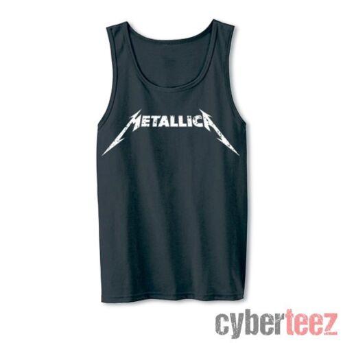 METALLICA Logo Tank Top Charcoal New Authentic Rock Metal S M L XL XXL