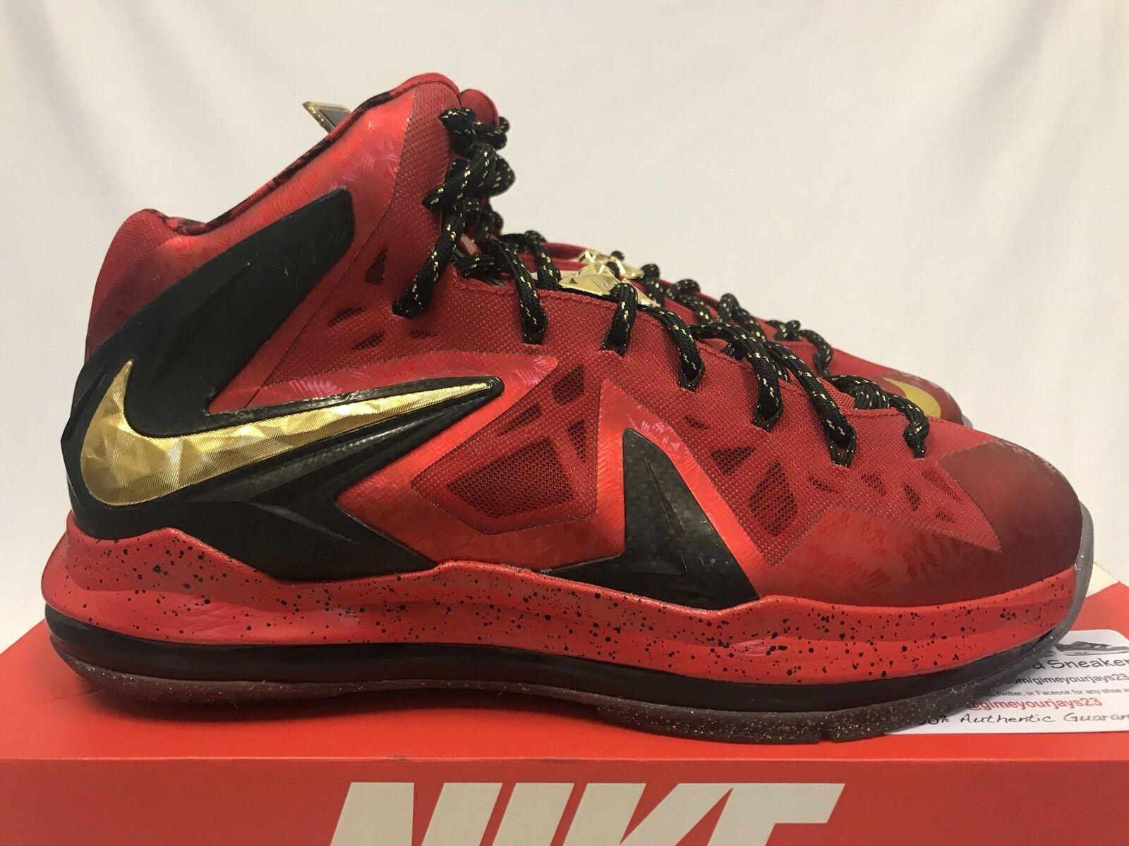 Nike lebron 10 x campionato pack (massime) celebrazione elite mvp