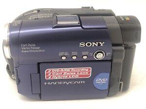 Sony-DCR-DVD91E-Handycam-Carl-Zeiss-Bleu-DVD-Video-Camera-Camescope
