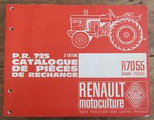 ANCIEN CATALOGUE PIECES DE RECHANGE TRACTEUR RENAULT 1966 R7055 DIESEL