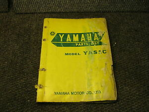 Yamaha Motorcycle Parts List Yas1c 125 1968 Street Vintage Manual Oem Ebay