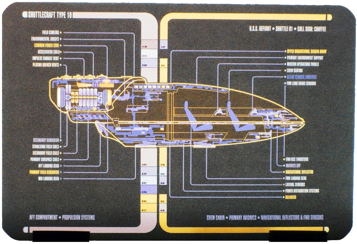 Type - 10 Chaffee navette uss Defiant-Métal modèle star star star trek Eaglemoss f151fb