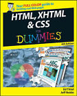 HTML, XHTML and CSS For Dummies by Jeff Noble, Ed Tittel (Paperback, 2008)