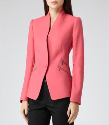 Xs Arya Jacket Pink Flamingo 8 Nu Blazer Small Sharply Tailored Reiss Coat Extra qCgFwp