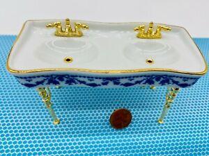 Dollhouse Miniature 1:12 Scale Porcelain Kitchen Sink L0001