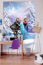 Fototapete Kinderzimmer Mädchen Disney Anna Elsa Olaf Eiskönigin 4-498 184x254cm