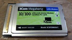 3Com 10-100 LAN + 56K Modem CardBus PC Card (Modem) Drivers Mac